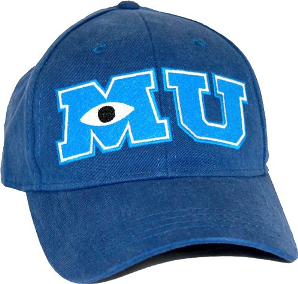 Monsters University MU juventud ajustable azul marino gorra ...