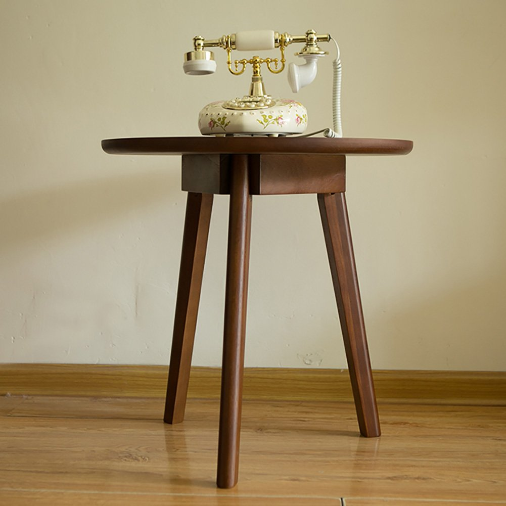 Style américain en bois petit rond table à thé table basse téléphone tabouret - table simple rouge
