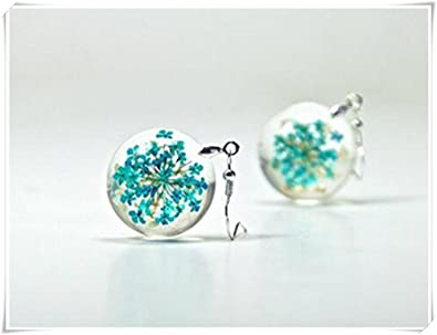 52dd91270 Image Unavailable. Image not available for. Color: Real Flower Resin  Earrings, Dried ...