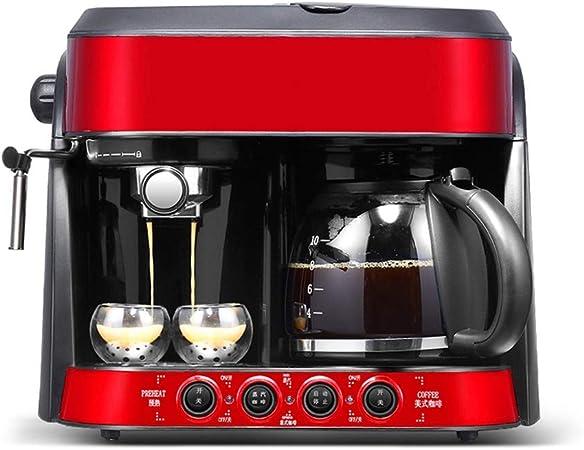 TGhosts Máquina de café, café Espresso y Combinación de la Bomba de Goteo Cafetera con espumejea Varita del hogar Mini Copa América por Goteo Doble semiautomática Dos en Uno Máquina de café: