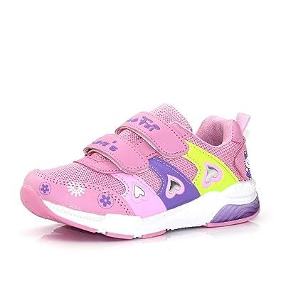 newest 367ce 9ff04 Qianliuk Kinder Mädchen Schuhe Velcro Mode PU Mesh Single ...