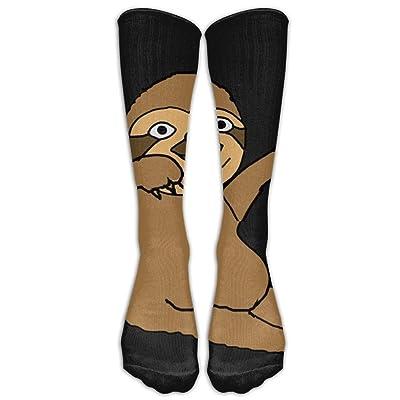 yiyuanyuantu Sloth Dabbing Socks, SHI FU Fashion Novelty Dress Crew Cotton Funny Stockings, One Size 50CM: Deportes y aire libre