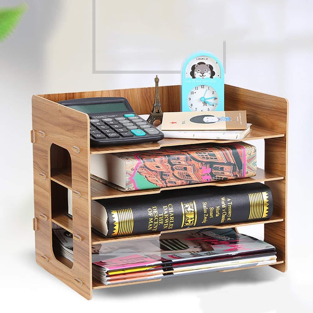 GaoJinZhuan File File File Box Information Desktop Desktop-Dateiablage Student Book Stand Desktop-Aufbewahrungsbox Desktop-Regal (Farbe   Maple Farbe) B07KXBWJMK | Sehr gute Farbe  8a4f4e