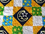 Chenille Moon and Stars and Sun Baby Quilt 40 x 48 Inches