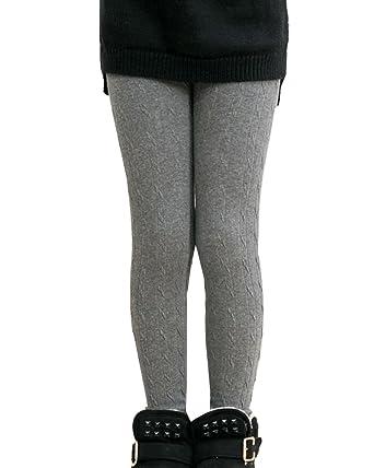 Filles Hiver Collants Leggings Pantalons Epais Chaud Fausse Fourrure Doublé  Legging Gris 10-12 43cc7754f86