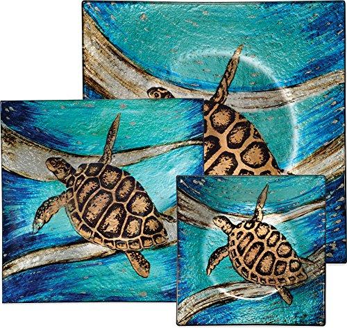 AngelStar Sea Turtle 3 Piece Plate Set