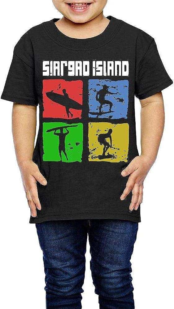 XYMYFC-E Siargao Island Surfer 2-6 Years Old Kids Short Sleeve Tshirts