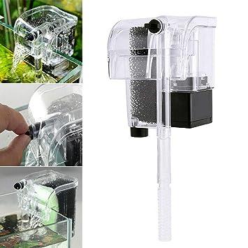 Amazon com: Mini Aquarium Fish Tank Hang On Oxygen Pump