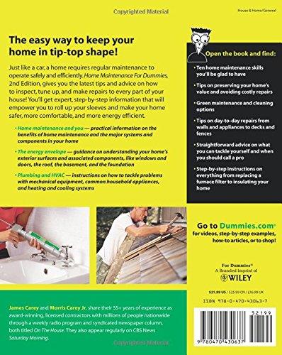 Home maintenance for dummies james carey morris carey home maintenance for dummies james carey morris carey 8601400007402 amazon books fandeluxe Choice Image