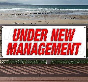 CGSignLab Under New Management Chalk Corner Heavy-Duty Outdoor Vinyl Banner 12x4