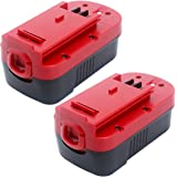 Elefly 2 Pack 18V 3.8Ah Ni-CD HPB18 Battery Replacement for Black and Decker 18V Battery HPB18 HPB18-OPE 244760-00 FS18FL FSB