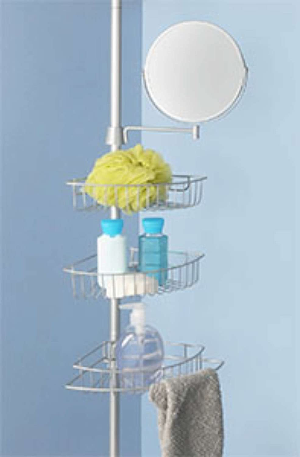 Amazon.com: LDR 1160BN Tension Shower Caddy with Adjustable Mirror ...
