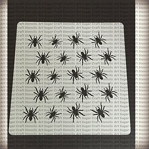 Halloween spiders Cookie stencil - cupcake designs for air brush - Royal icing