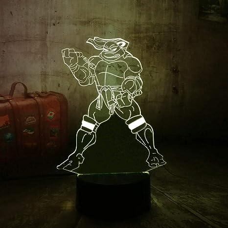 WYXYD Illusion 16 Colores De Luz Nocturna Mutant ninja turtle ...