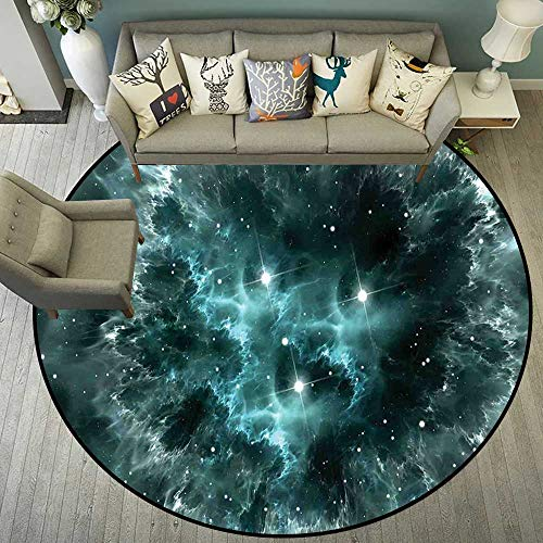 (Circle Floor mat Outside Round Indoor Floor mat Entrance Circle Floor mat for Office Chair Wood Floor Circle Floor mat Office Round mat for Living Room Pattern 5'10