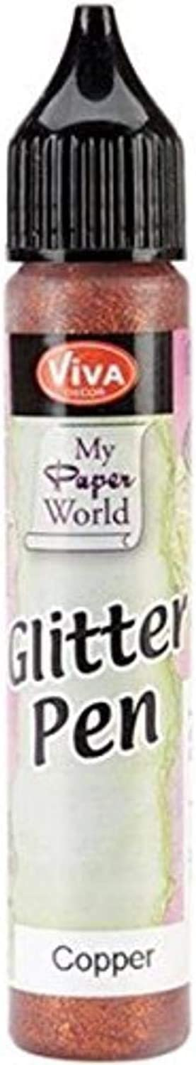 Viva Decor Glitter Pen, 25ml, Copper