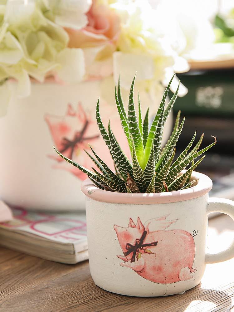 QINCH Home Arcilla Creativa Viejo Viejo florero seco florero Retro Europeo Sala de Estar decoración Adornos Maceta (Size : A)