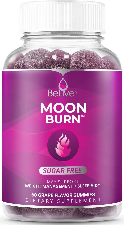 MoonBurn Nighttime Melatonin Weight Loss Gummies