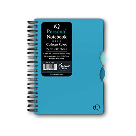 Amazon.com: Cuaderno iScholar iQ con doble anillado, con ...