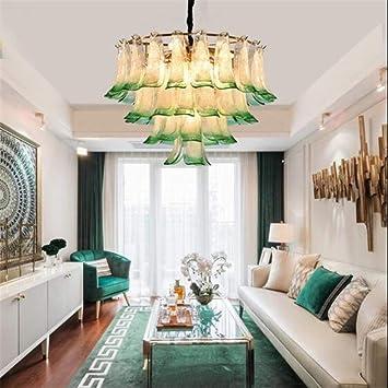 Zhang Yan ZYY ® Araña de Vidrio rústico Lámpara de Techo de ...