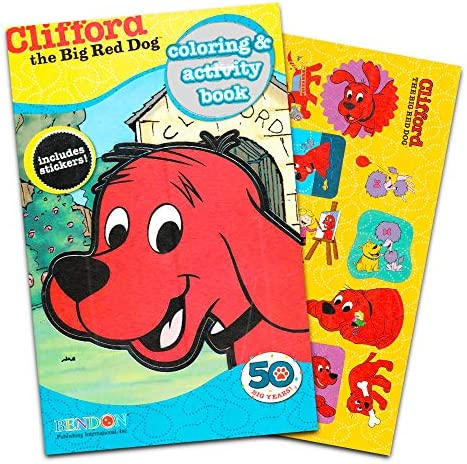 Clifford The Big Red Dog Coloring Book With Stickers (160 Pages, 5x8  Format): Amazon.ae