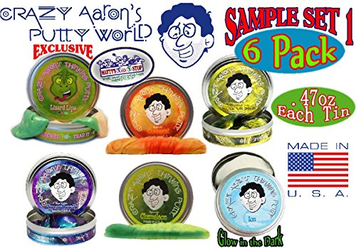 crazy-aarons-thinking-putty-mini-tin-gift-set-bundle-sample-set-1-with-lizard-lips-hypercolor-6-pack