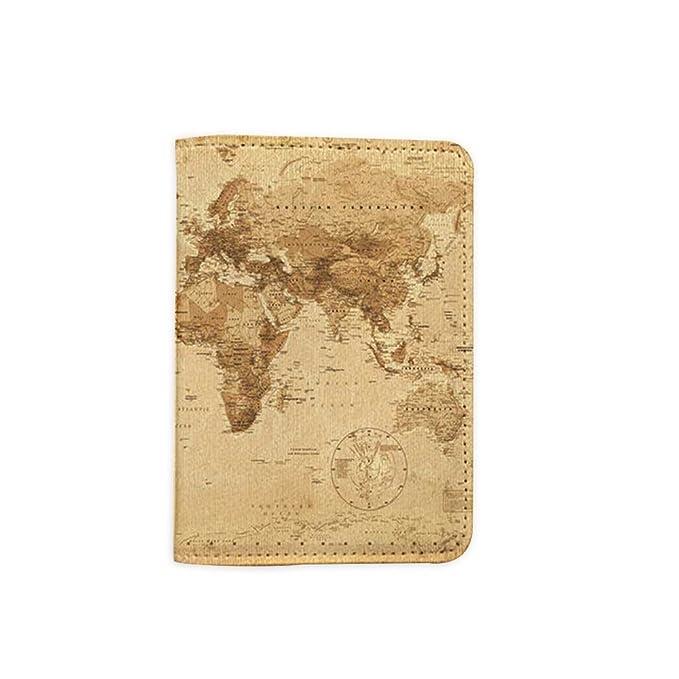 World Map Passport Holder.Amazon Com Vintage World Map Leather Passport Holder Passport