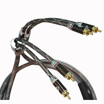 Jib High End HiFi Cable de señal 2 x RCA macho a 2 x RCA macho Cable RCA RCA Cable HF de 002: Amazon.es: Electrónica