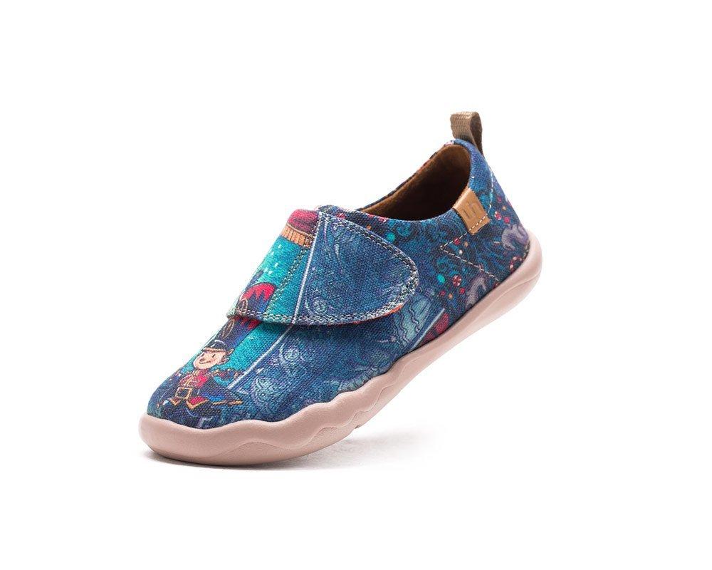 UIN Kid's Hero Travel Canvas Loafer Shoe Blue (Little Kid) (9)