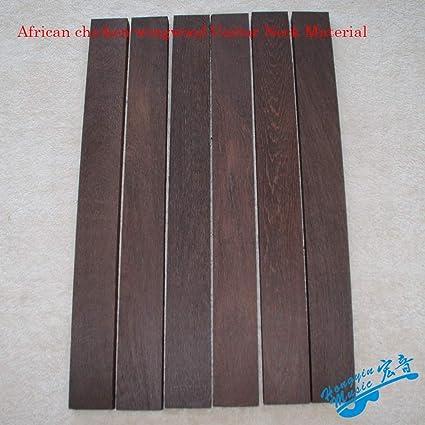 Cuello de guitarra de grano recto africano, de madera de gallina ...