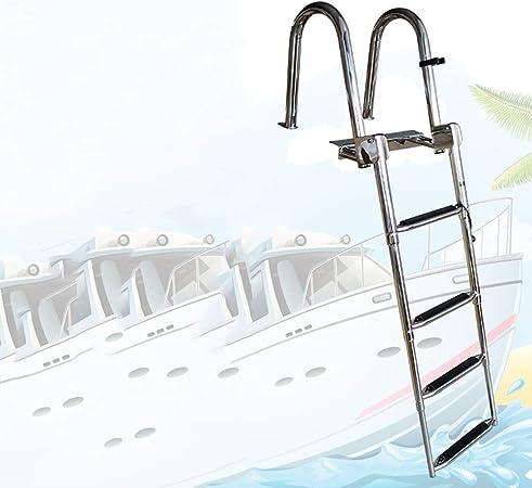 Escalera Telescópica/Escaleras Extensibles Escalera De Barco Marina De Natación Telescópica Inoxidable Con Manija Incorporada, Escaleras De Extensión De 4 Escalones For Piscina De Muelle De Yates De B: Amazon.es: Bricolaje y herramientas