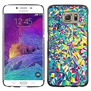 iKiki Tech / Estuche rígido - Vibrant Colors Teal Purple - Samsung Galaxy S6 SM-G920