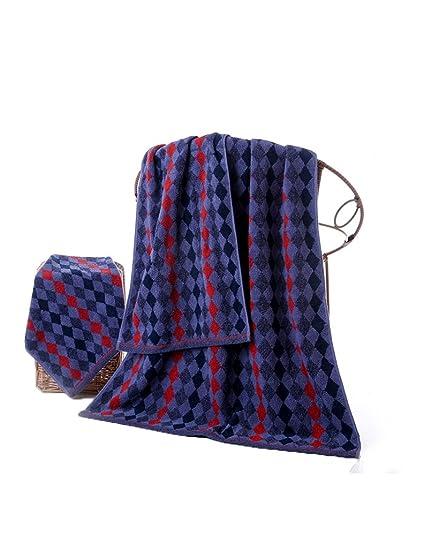 Toalla de algodón simple Absorbente Toallas suaves grandes 1 Toalla grande +1 Toalla +1