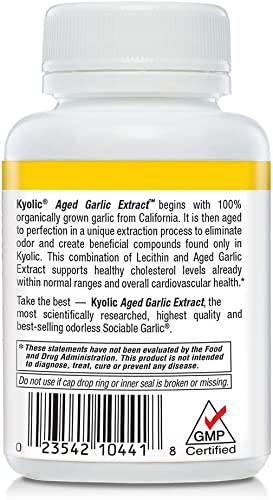 Kyolic Aged Garlic Extract Formula 104 Cholesterol, 100 Capsules
