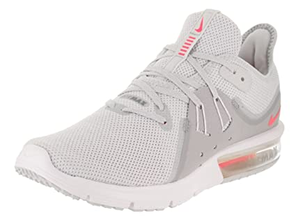 Nike Women's Air Max Sequent 3 Running Shoe Pure PlatinumRacer Pink Wolf Grey 11