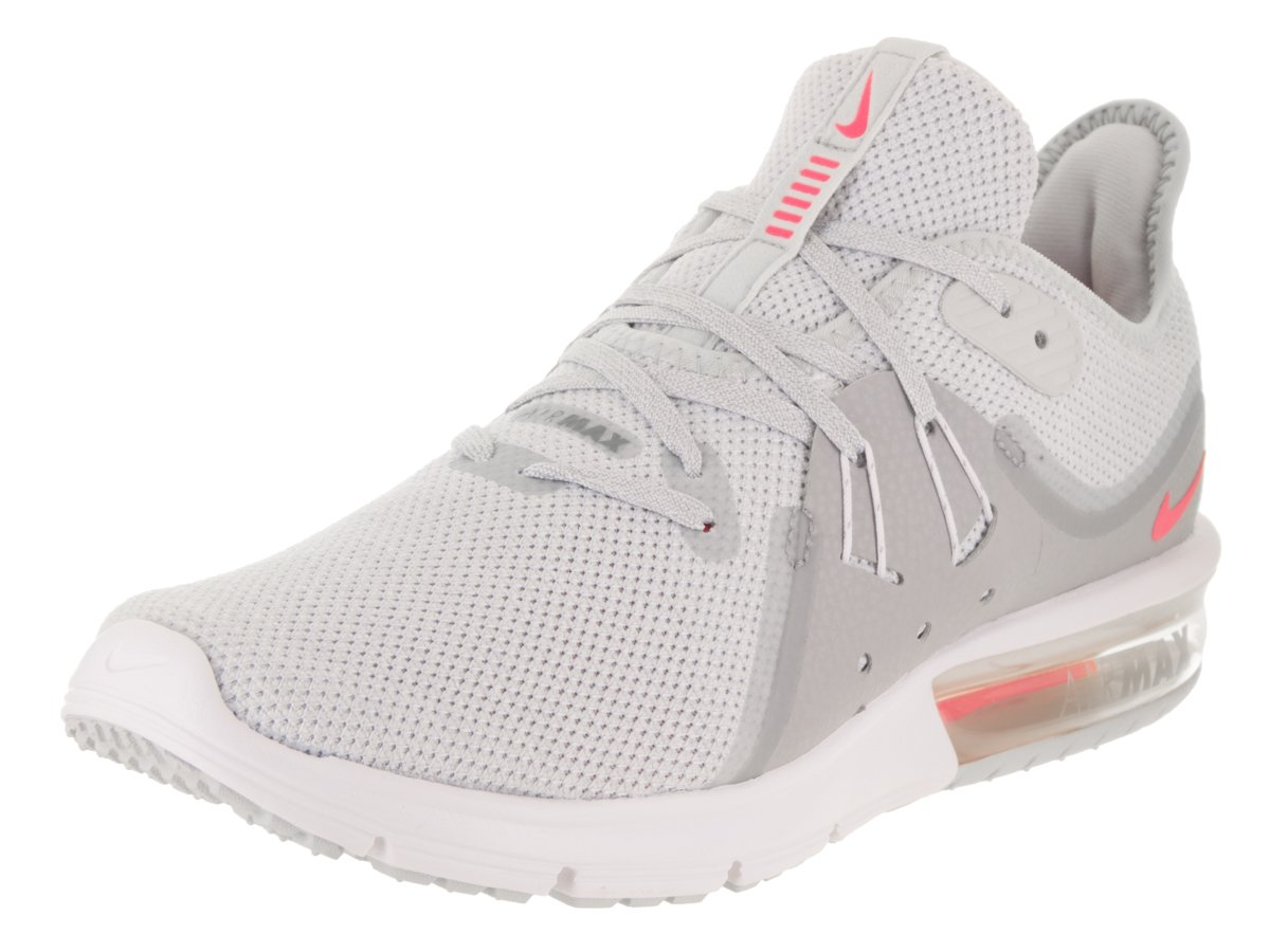 16a09e66580 Galleon - NIKE Womens WMNS AIR MAX Sequent 3 Pure Platinum Racer Pink Wolf  Size 10