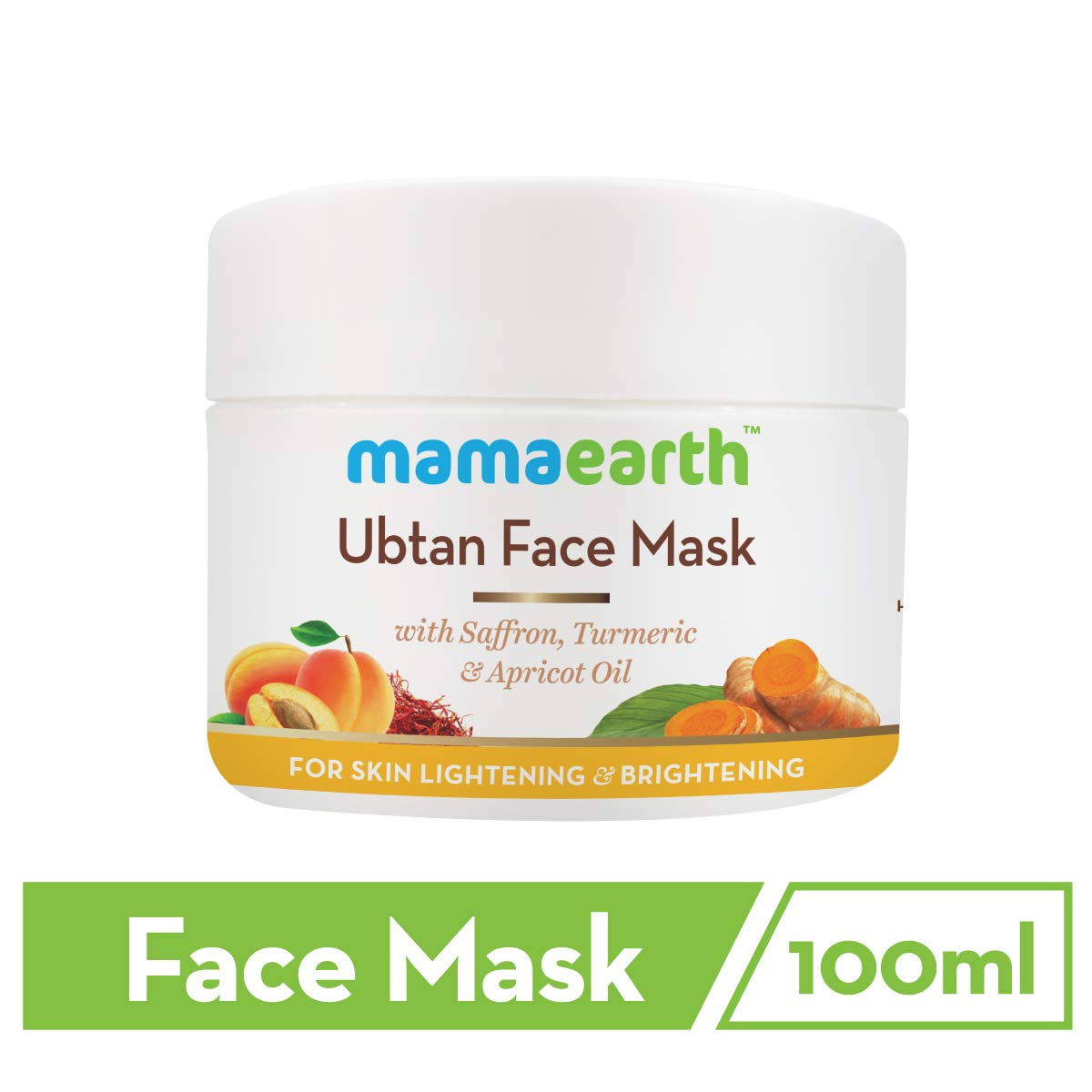 Buy Mamaearth Ubtan Face Pack Mask For Fairness Tanning Glowing Skin With Saffron Turmeric Apricot Oil 100 Ml Online At Low Prices In India Amazon In