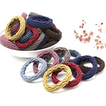 100Pcs Women Girl Hair Band Ties Elastic Rope Ring Hairband Ponytail Holder*