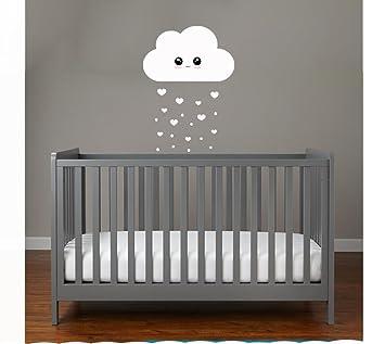Babyzimmer deko wand  WOLKE HERZREGEN mit Gesicht SET Wolken Wandtattoo Wandaufkleber ...