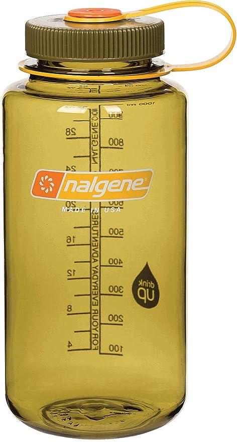 Amazon.com: Nalgene Tritan 32oz boca ancha sin BPA botella ...