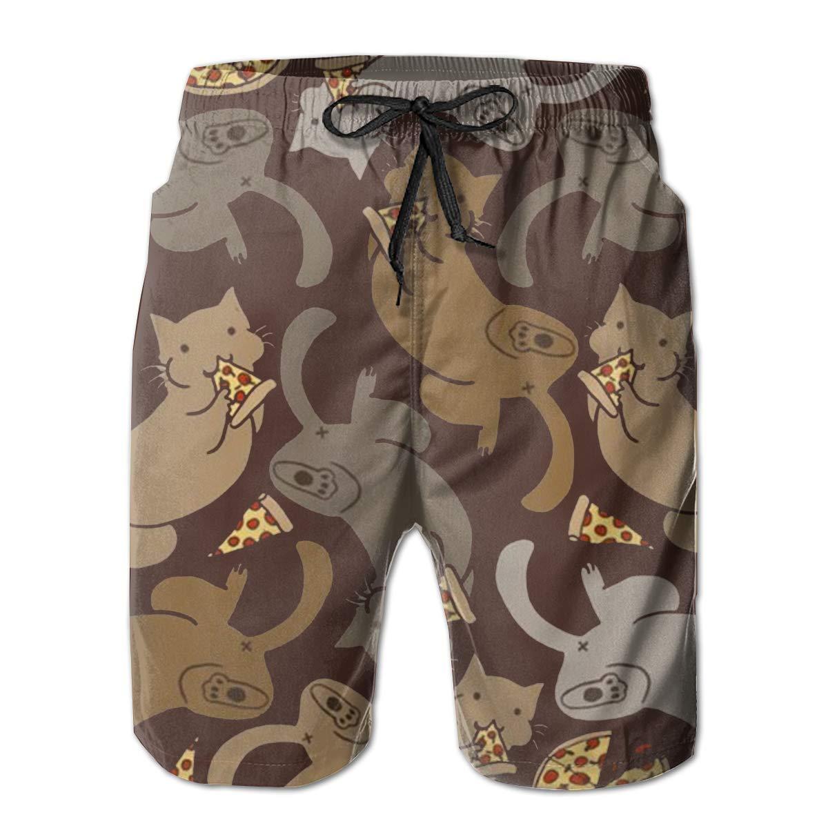 Pizza Cats Boardshorts Mens Swimtrunks Fashion Beach Shorts Casual Shorts Swim Trunks