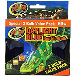 Zoo Med 4-Pack Daylight Blue Reptile Bulb, 60-watt