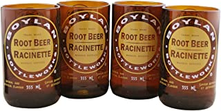 product image for Tumblers Drinking Glasses Made From Recycled Soda Bottles 8 Oz - set of 4 (French Root Beer)