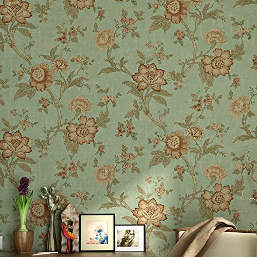 Blooming Wall Non woven Wallpaper Livingroom