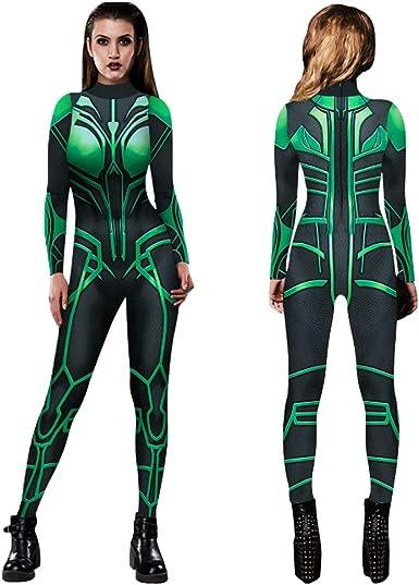 Halloween 3D Print  Death Goddess Hela Cosplay  Costumes Spadnex Bodysuit