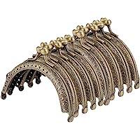 Supervox Metalen boog-frame, kussens-haaksluiting, halfronde portemonnee-tas-frame, sluiting-brons toon doe-het-zelf…
