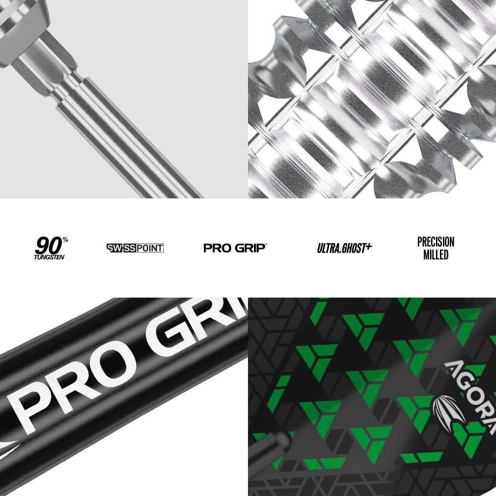 Plata 24 g Target Darts Agora A05 24G 90/% Tungsten Swiss Point Steel Tip Darts Set Dardos