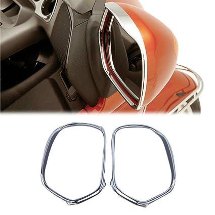 wotefusi nuevo marco 2 piezas par ABS Cromo Retrovisor Espejos Cover ...