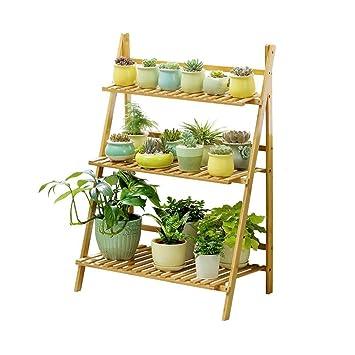 bois 3 Bambou Fleur en Rack WYDM Pliante niveaux Stand rxoWdCeB