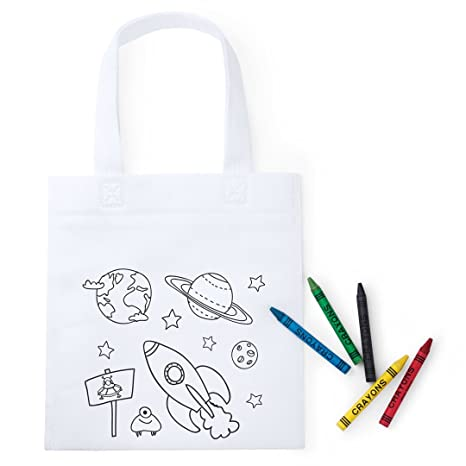 Lote 30 Bolsas Colorear, Cada una Incluye 5 Ceras de Colores para Pintar. Regalo Ideal niños Fiestas cumpleaños, colegios, guarderías